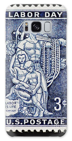 Labor Day Vintage Postage Stamp Print Galaxy Case by Andy Prendy