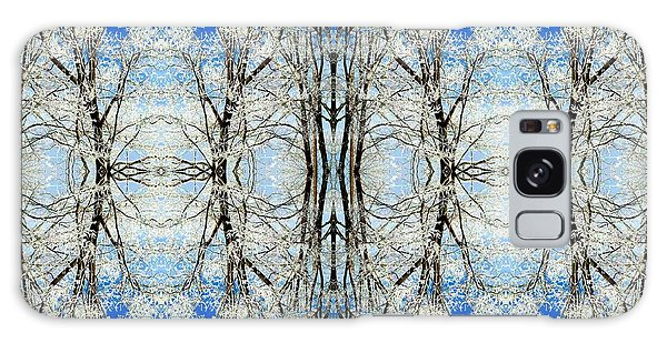 Lacy Winter Trees Abstract Art Photo Galaxy Case