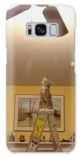 Ladder Cat Galaxy Case by Stacy C Bottoms
