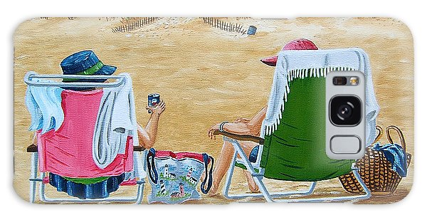 Ladies On The Beach Galaxy Case by Val Miller