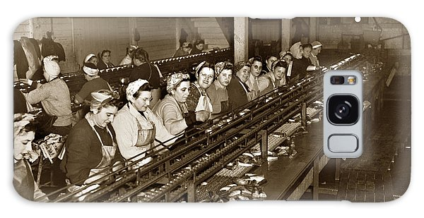 Ladies Packing Sardines In One Pound Oval Cans In One Of The Over 20 Cannery's Circa 1948 Galaxy Case