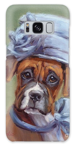 Lady Boxer With Blue Hat Galaxy Case