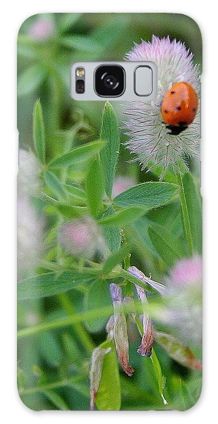 Lady Bug Among The Flowers  Galaxy Case