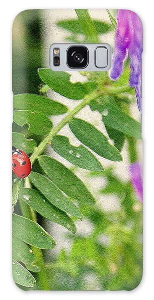Lady Bug Among The Wild Flowers Galaxy Case