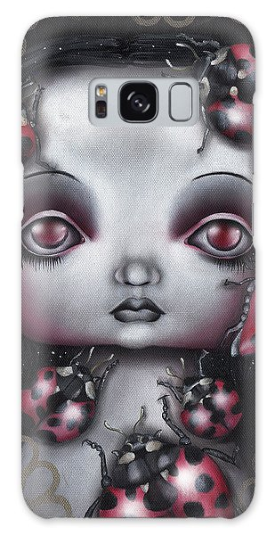 Lady Bug Girl Galaxy Case by Abril Andrade Griffith