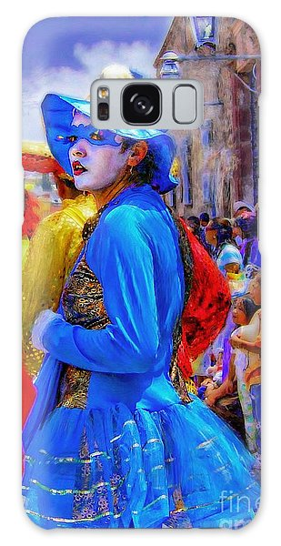 Lady In Blue Galaxy Case by John  Kolenberg
