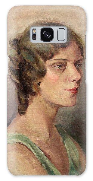 Lady In Green 1929 Galaxy Case