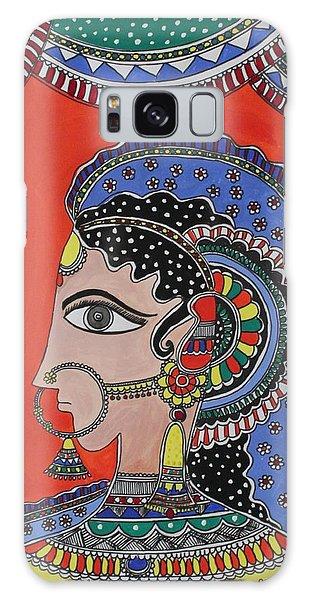 Madhubani Galaxy Case - Lady In Ornaments by Shakhenabat Kasana