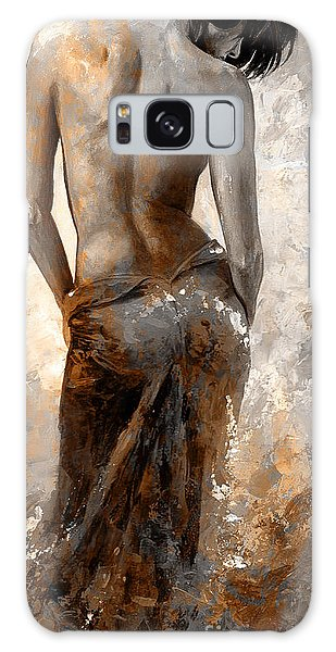 Lady In Red #27 Digital Colored Rust Galaxy Case by Emerico Imre Toth