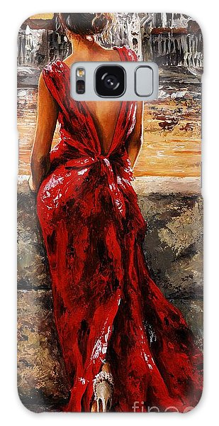 Lady In Red  34 -  I Love Budapest Galaxy Case by Emerico Imre Toth