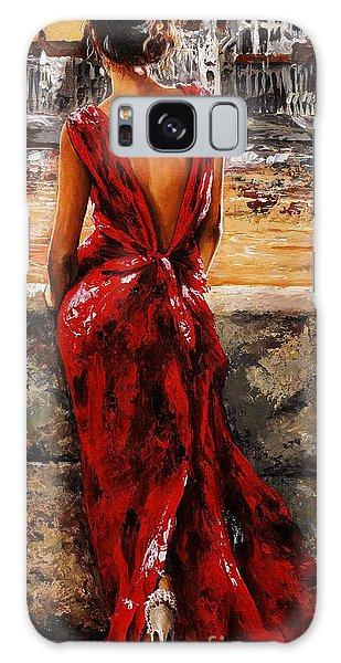 Woman Galaxy Case - Lady In Red  34 -  I Love Budapest by Emerico Imre Toth