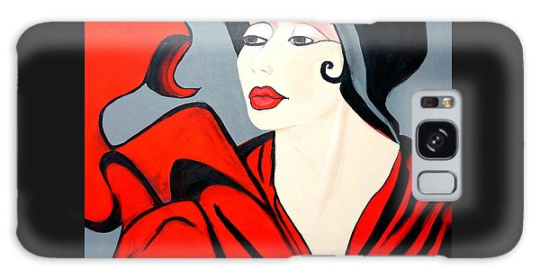 Lady In Red  Art Deco Galaxy Case