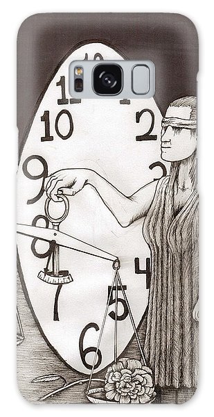 Lady Justice And The Handless Clock Galaxy Case