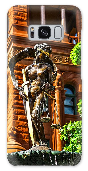 Lady Justice Fountain Galaxy Case by Greg Sharpe