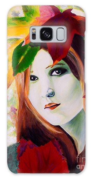 Lady Leaf Galaxy Case by Denise Deiloh