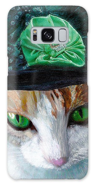 Lady Little Girl Cats In Hats Galaxy Case
