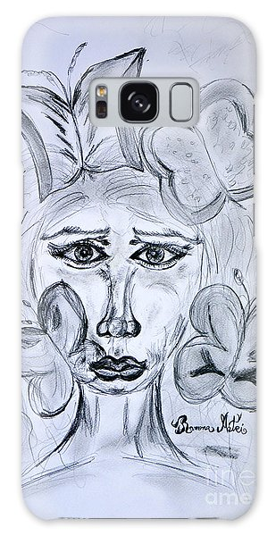 Lady Queen Of Butterflies Galaxy Case by Ramona Matei