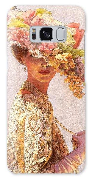 Flower Galaxy S8 Case - Lady Victoria Victorian Elegance by Sue Halstenberg