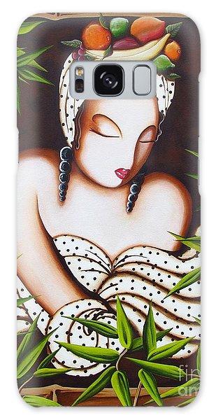 Lady With Fruit Galaxy Case by Joseph Sonday
