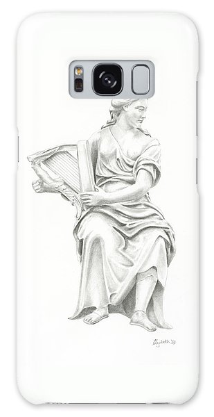 Lady With Harp II Galaxy Case