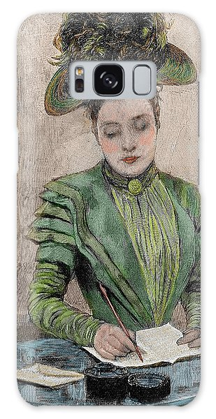 Paper Dress Galaxy Case - Lady Writing A Letter by Prisma Archivo