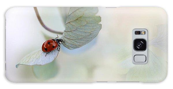 Soft Galaxy Case - Ladybird On Blue-green Hydrangea by Ellen Van Deelen