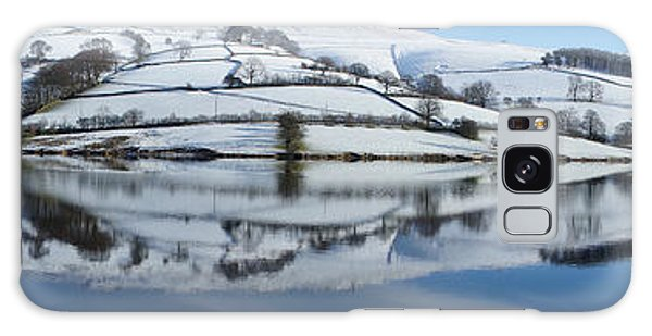 Ladybower Winter Panorama Galaxy Case