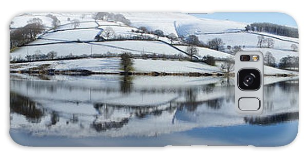 Ladybower Winter Panorama Galaxy Case