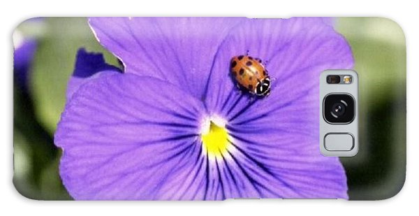 Ladybug On Flower Galaxy Case