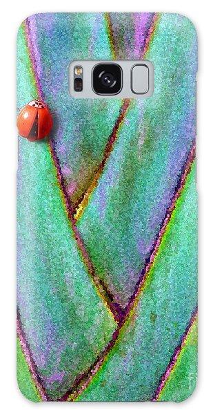 Ladybug On Palm Galaxy Case by Mariarosa Rockefeller