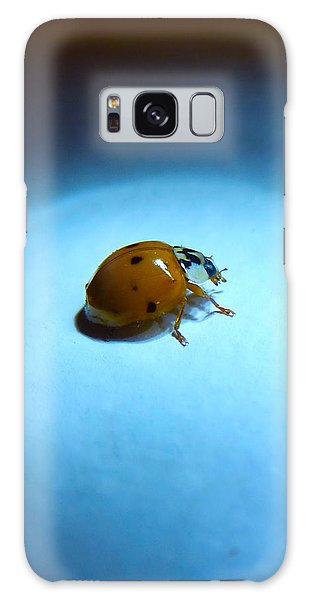 Ladybug Under Blue Light Galaxy Case