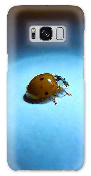 Ladybug Under Blue Light Galaxy Case