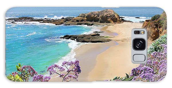 Laguna Beach Coastline Galaxy Case by Jane Girardot