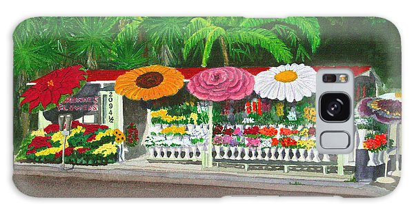 Laguna Beach Flower Stand Galaxy Case by Mike Robles