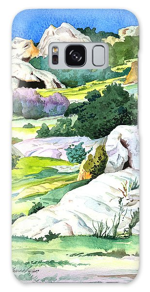 Laguna Canyon Rocks Galaxy Case by John Norman Stewart