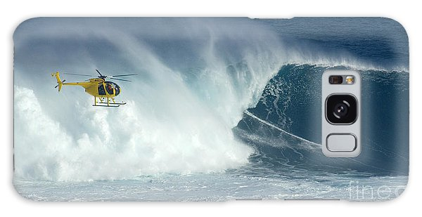 Laird Hamilton Going Left At Jaws Galaxy Case by Bob Christopher