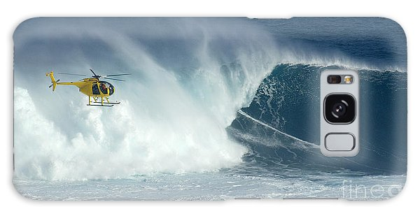 Laird Hamilton Going Left At Jaws Galaxy Case