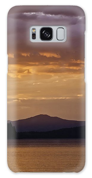 Lake Almanor Sunset Galaxy Case
