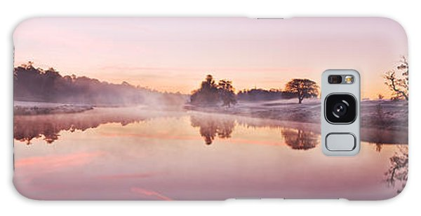 Galaxy Case featuring the photograph Lake At Dawn Panorama - Ireland by Barry O Carroll
