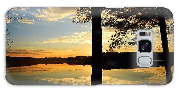 Lake At Sunrise Galaxy Case