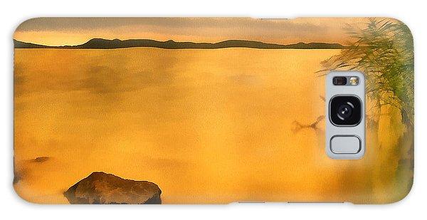 Lake Balaton Sunset Paint Galaxy Case