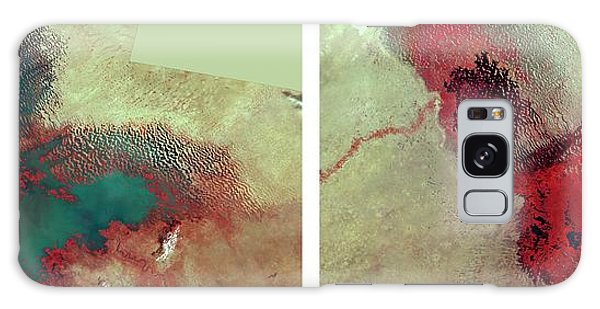 Nigeria Galaxy Case - Lake Chad's Disappearance Over 34 Years by Nasa/science Photo Library