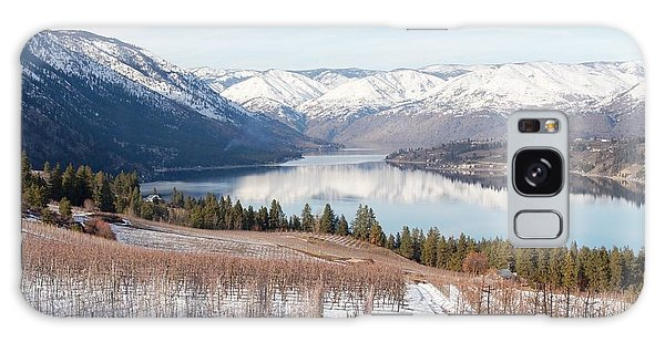 Lake Chelan In Winter Galaxy Case
