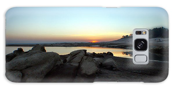 Lake Folsom California Rocky Sunset Galaxy Case