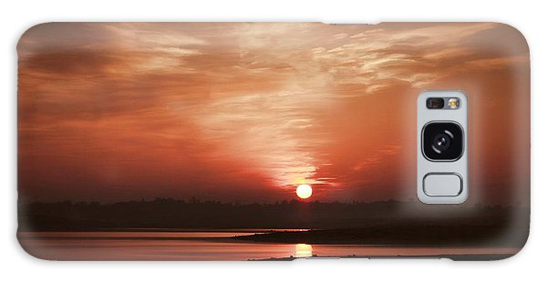 Lake Folsom California Sunset Galaxy Case