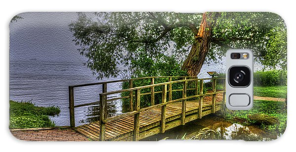 Foot Bridge In Deep Fog - Williams Bay Wisconsin Galaxy Case