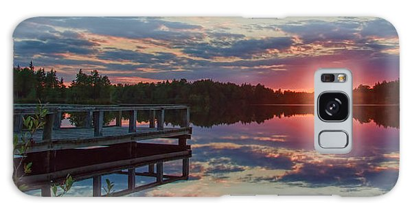 Lake Horicon Sunset 1 Galaxy Case