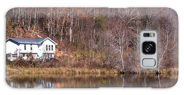 Lake House Blue Sky Galaxy Case by Cleaster Cotton