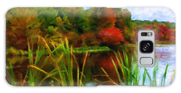 Lake In Early Fall Galaxy Case by Chuck Mountain