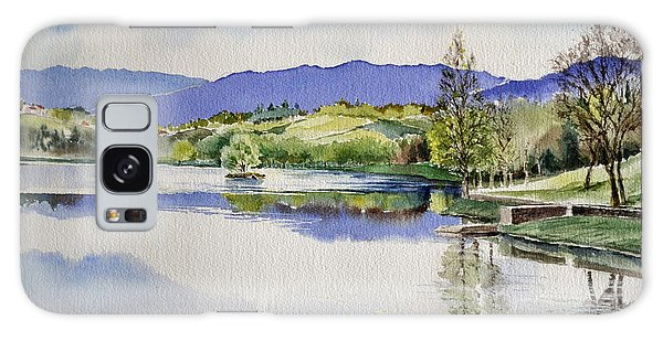 Lake In Tuscany Galaxy Case